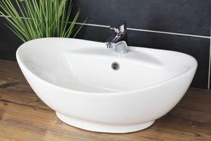 Aufsatzwaschbecken 60x40 cm Oval Waschbecken Modern