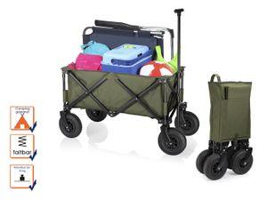 Faltbarer Kinderbollerwagen mit Luftreifen Klappbollerwagen für Kindertransport