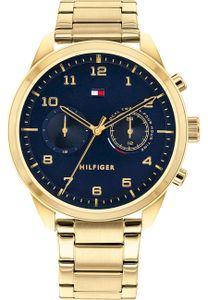 Tommy Hilfiger Herren Multi Zifferblatt Blau/Gold Edelstahl Armbanduhr   1791783