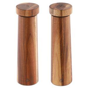 Navaris Salz und Pfeffer Mühle Set - Gewürzmühle Grinder Streuer für Gewürze - Salzstreuer Pfefferstreuer aus Holz - zum Mahlen - nachfüllbar