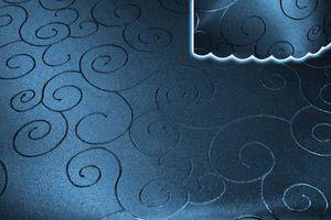 Tischdecke blau dunkel oval 130x220 cm damast Ornamente bügelfrei fleckenabweisend