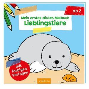 ars Edition Mein erstes dickes Malbuch Lieblingstiere