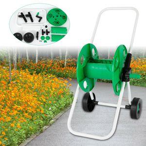 Schlauchwagen Set 50M Schlauchtrommel Gartenschlauchwagen Schlauch Spritze Gartenschlauch Trommel Aufroller Schlauchaufroller
