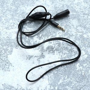 FOXNOVO 1M 3,5 mm Stecker auf Buchse Stereo-Kopfhörer-Audio Verlängerungskabel Kabel mit Lautstärkeregler (Schwarz)