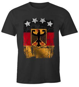 Cooles Herren T-Shirt Deutschland Fan-Shirt WM 2018 Fußball Weltmeisterschaft Moonworks® anthrazit L