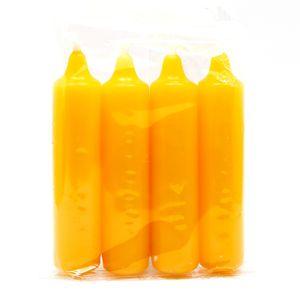Adventskerzen 12er 4 Stück, gelb, 4-12/500