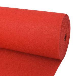 vidaXL Messeteppich Glatt 1,6×12 m Rot