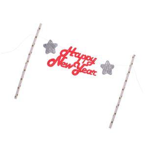 1 Set Kuchen Topper Rose rot wie beschrieben Frohes Neues Jahr Cake Topper