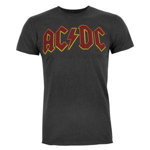 AC/DC Comics Herren Logo T-Shirt NS4103 (S) (Anthrazit)