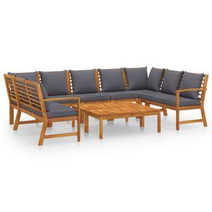 Hochwertigen Garten Sitzgruppe Gartengarnitur - 9-teiliges Garten-Lounge-Set - Gartengarnitur Set mit Auflagen Massivholz Akazie☆1139