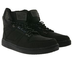 H.I.S Herren High Sneaker Schwarz Schuhe, Größe:44