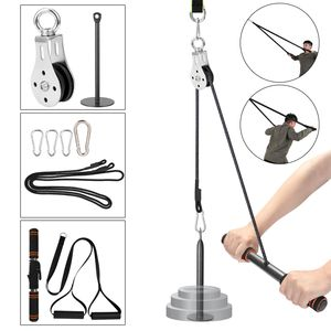 Fitness DIY Seilzug Kabel Maschine Befestigungssystem Hebearm Hand Krafttraining Bein Sehne Stretching Ausruestung,Multicolor