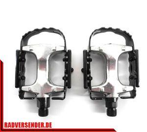 1 Paar Alu Fahrrad Pedalen MTB Pedale Stahl Käfig Aluminum Body Refelktor NEU