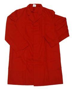 Herren Berufsmantel Arbeitskittel Kittel Mantel 3/4 lang Baumwolle/Polyester, Größe:54, Farbe:rot