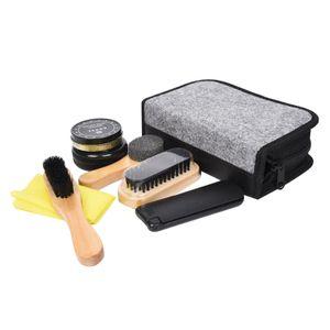 Schuh Reinigungs Kit mit Schuhen Glanz Bürsten Set für Polieren, Abwischen