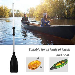 Leicht Paddel Set Doppel Ruder Doppelpaddel Kombipaddel für Boot Kajak Kanu Ruderboot 2 Paddelkopf Alu Abnehmbar 126cm