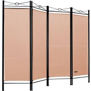 Casaria Paravent Raumteiler Lucca 180x163 cm 4 tlg Trennwand Verstellbar Sichtschutz, Farbe:Rose