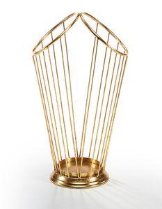 Schirmständer DOUBLE aus Metall gold