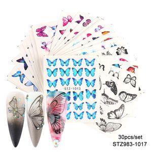 DIY Nagelaufkleber, 3D Schmetterling-Form Selbstklebender Nagelsticker für Nagelstudio oder Zuhause