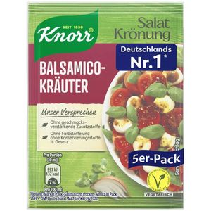 Knorr Salatkrönung Balsamico Kräuter Salatdressing 5x 11g 5er