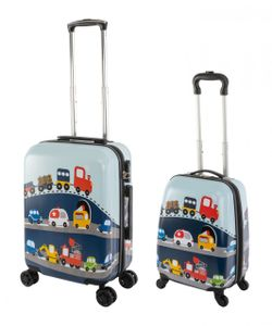 Travelhouse - Happy Children - Busy Cars - Kinderkoffer Kindertrolley 27L+ 41L