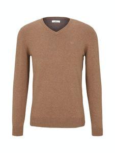 Tom Tailor Herren Pullover 1012820 Brown Oak Melange