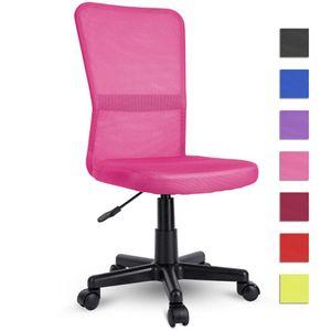 TRESKO Drehstuhl Pink Chefsessel Bürostuhl Drehstuhl Sportsitz Bürosessel Schreibtischstuhl