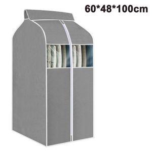 Hängende Kleidertasche Kleidersack Organizer Aufbewahrung mit durchsichtigen PVC-Fenstern Kleiderständerabdeckung Staubdichte Kleiderabdeckung für Anzugmäntel Jacken Kleiderschrank Aufbewahrung
