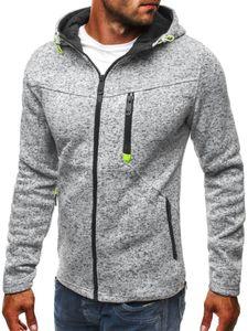 Herren Kapuzenpullover Sport Freizeitjacke Sportswear Top,Farbe: Hellgrau,Größe:3XL