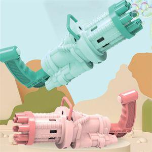 2 × Gatling 8-Loch elektrische Seifenblasenmaschine, Outdoor-Spielzeug, Kindergeschenke