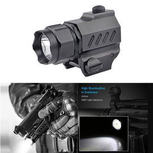 LED Taschenlampe All in 1 Tactical Pistole Lampe 230LM 2 Arbeitsmodi für das Schießen HandGun Angeln Radfahren Wandern Training outdoor