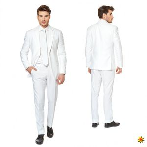 OppoSuits White Knightherrenkostüm Anzug Polyester weiß Größe 58