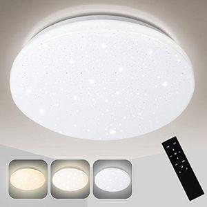 karpal LED Deckenleuchte Dimmbar 24W, Deckenlampe Sternenhimmel Farbtemperatursteuerung mit Fernbedienung,2160LM,2700-6500K fuer Kueche Wohnzimmer Kueche Kinderzimmer
