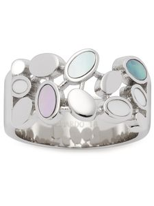 Leonardo 021296 Damen Ring Minea Edelstahl Silber mehrfarbig 53 (16.9)