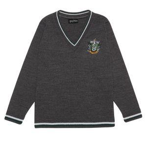 Harry Potter - Slytherin House Pullover für Jungen PG1033 (116) (Anthrazit)