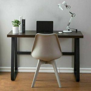 Schreibtisch Computertisch Bürotisch Arbeitstisch 120cm Vintage Holzfarbe PC Tisch