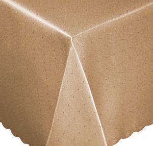 Tischdecke 135x200 cm braun hell eckig Mitteldecke Punkte bügelfrei fleckenabweisend
