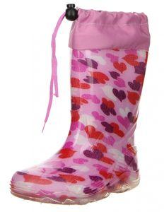 G&G Kinder Mädchen wasserdichte Gummistiefel Regenschuhe rosa, Farbe:Rosa, Größe:32