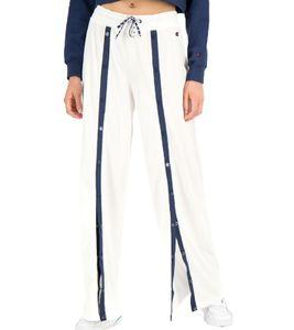 Champion Trainings-Hose stylische Damen Jogginghose mit frontaler Knopfleiste Weiß, Größe:S