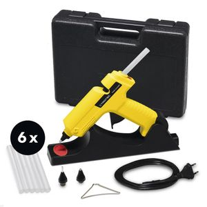 TROTEC Heißklebepistole PGGS 10‑230V, Inklusive 6 Klebesticks 11 mm, Ideale DIY Heisskleber Pistole für Haushalt, Hobby und Handwerk