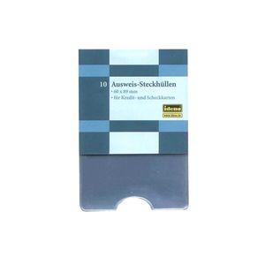 10x Ausweissteck-Hüllen Hygiene Kreditkarten Scheckkarten Bankkarte Schutzhülle Schutz Hüllen Krankenkassenkarte Kreditkarte Kreditkarte Hülle