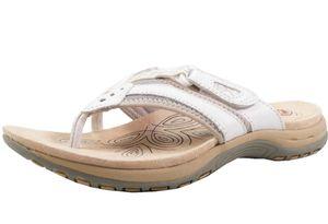 Earth Spirit 38009-20 Damen Zehentrenner Clogs Pantoletten, Größe:40 EU, Farbe:Weiß