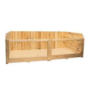 Meerschweinchengehege COCO aus Holz, 120x70x40 cm (L/B/H)