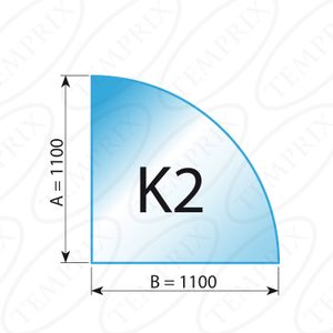Kaminbodenplatte Stahl schwarz Form K2  1100 x 1100 x 2mm - (Tragkraft bis 800 Kg)