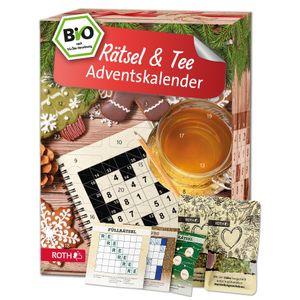 ROTH Rätsel + Tee Adventskalender 2021 gefüllt mit hochwertigen Teemischungen, Kalender mit losem Tee in Päckchen und Rätseln für die Vorweihnachtszeit