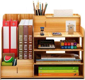 MECO Schreibtisch Organizer Stiftehalter Schreibtischbox Desktop Aufbewahrungsbox Stifthalter, Typ A