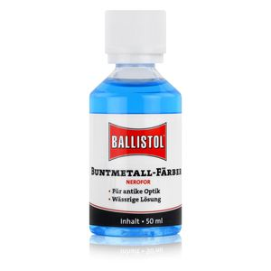 Ballistol Buntmetall-Färber Nerofor 50ml - Für antike Optik (1er Pack)