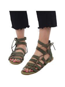 Damen Flache Sandalen Mode Freizeitschuhe,Farbe:Hellgrün,Größe:42