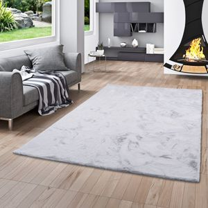 Luxus Super Soft Fellteppich Plush Hellgrau, Größe:120x170 cm