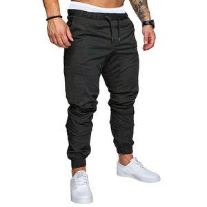 Mode Herren Casual Outdoors Solide Mehrtaschen-Arbeitshose Cargo Long Pants Größe:XL,Farbe:Schwarz
